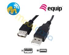 Cable Alargador USB Macho Hembra Negro