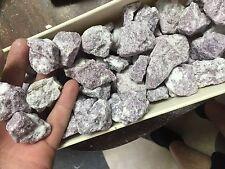 1lb Wholesale Purple Mica Lepidolite Rough In Quartz Matrix Bulk Stones Natural