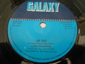 "Lena Zavaroni - Air love / Pinch me I'm dreaming GALAXY 7"" single"