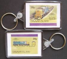 1968 New Zealand Railways Class Dj Train Stamp Keyring (Loco 100)