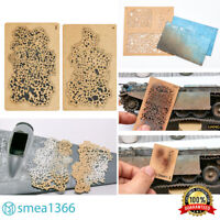 DIY Salt Weathering Effect Airbrush Stencil for 1/32 1/48 1/72 Model LIANG 5/8/9