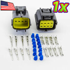 [1x] Denso 2x4P 8 Pin Waterproof 16-20AWG Rugged Automotive Connector IP67