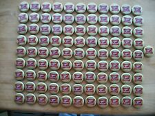 100 MILLER HIGH LIFE BEER BOTTLE CAPS NO DENTS (CRAFT'S)