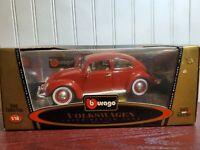 Bburago 1955 Volkswagen Beetle 1:18 Scale Diecast Model Car Burago VW Kafer