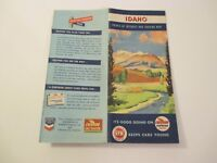 Vintage 1948 Chevron Idaho Travel State Oil Gas Station Road Map Booklet