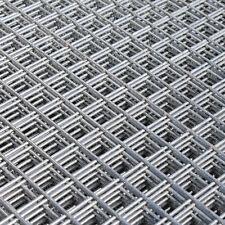 "2x Welded Wire Mesh Panels 1.2x2.4m Galvanised 4x8ft Steel Sheet Metal 1"" Holes"