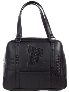 Sourpuss Idoless Studded Goth Punk Rockabilly Black Bowler Handbag Purse SPPU205