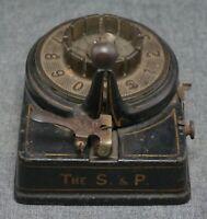 The S. & P. CHECK WRITER - Cast Iron - Perforating - ANTIQUE - Circa 1900