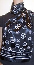 Black And White Peace Sign Scarf