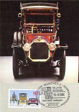BRD MK AUTO BENZ Velociped 1909 CAR Monaco ADAC carte MAXIMUM CARD MC cm d9504