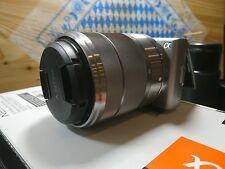 Sony Alpha nex-5 cámara digital plata con sel1855 mm u. Minolta rokkor objetivamente