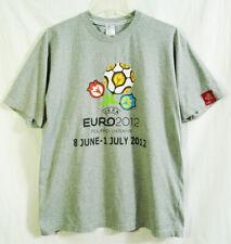 UEFA Euro 2012 Poland - Ukraine Heather Gray Welcome T-shirt size Large
