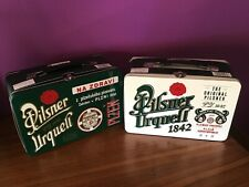 2 X EMPTY METAL BOX LUNCH BEER PILSNER URQUELL LIMITED EDITION