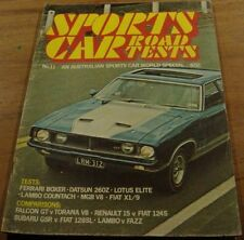 1974.SPORTS CAR ROAD TESTS No.11.XB FALCON GT.Torana SL/R 5000.260Z.Fiat.X1/9.MG