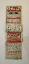 Rare Affiche Originale The Rolling Stone Zigfield Theatre 1974 87 X 26,5 Cm