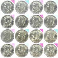 1971-1979  P + D Kennedy Half Dollar BU Mint Cello Run Set 18 US Coins