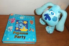 Blues Clues Pajama Party Musical Treasury Childrens Book Nick Jr.with plush doll