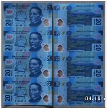Mexico 20 Peso 4in1 Uncut 墨西哥 20比索 4连体钞 塑料钞