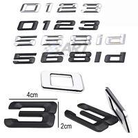 Letras adhesivas logo maletero emblema números compatibles con Bmw 2cm x 4cm