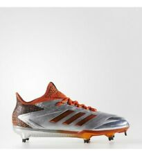 NEW... adidas adizero Afterburner 4 Faded Men's Baseball Cleats Silver/Orange 11