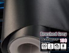 Cepillado Metal Gris Vinilo Coche Wrap {30 X 152 cm} Aluminio Rollo de Película Pegatina de Coche