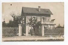 SUISSE SWITZERLAND canton GENEVE carte photo d'une maison  à CHENE