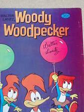 "Walter Lantz signed"" WOODY WOODPECKER "" Comic Book  Bronze Era"