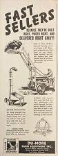 1946 Ad.(Xf18)~Du-More Farm Equipment Inc. Wichita, Ks. Loader And Grain Blower