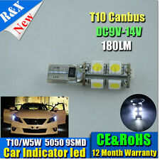 2X CANBUS WHITE T10 5050 Wedge Globes Parker Number Plate LED SMD Bulb W5W 180LM