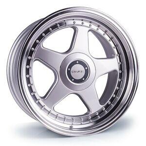 "18"" DARE F5 Alloy Wheels 5x112 Silver Polished Lip fits VW Golf 5 6 7"