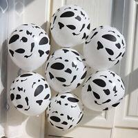 12'' 5/10/20Pcs Cow Print Latex Balloon Party Wedding Birthday Baby Shower Decor