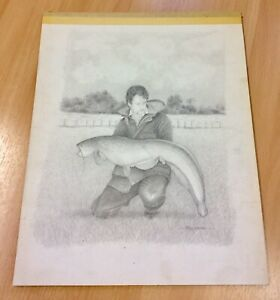"""Large Original John Searl Pencil Drawing From Red Letter Days 15"""" X 12"""""""