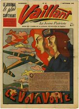 RARE VAILLANT 38 (le journal le plus captivant) du 07/09/1945 TBE