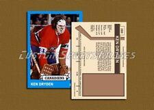 Ken Dryden - Montreal Canadiens - Custom Hockey Card  - 1972-73