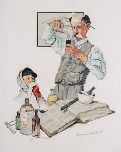 Norman Rockwell Lithograph - Pharmacist 1939 Signed Artist Proof