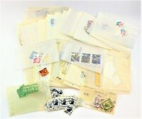 100's of Vintage Lots Of Used, US And World Postage Stamps Free Shipping