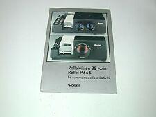 ROLLEI TWIN 35, P 66S dépliant technique d'époque photo photographie diapo