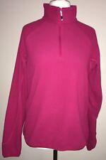 Ladies Berghaus Cerise Long Sleeve Half Zip Fleece Size 14
