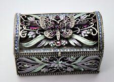Unique Decorative Butterfly Antique Silver color Jewelry Box Storage gift