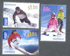 Australia-Ski-ing-SPORT INVERNALI-Set Adesivi bene usato/CTO (3626/8)