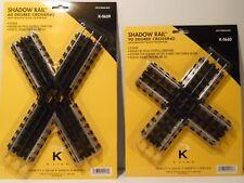 K-Line Shadow Rail 60 & 90 Degree Crossings, O Gauge (one of each)