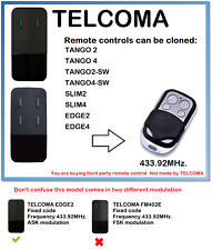 TELCOMA EDGE2, TELCOMA EDGE4 Remote Control Duplicator 433.92MHz.