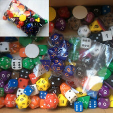 DICE -VALUE bulk refill pack of dice - 100+ dice, d6 spot and poly