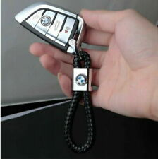 BMW M SPORTS 2020 Black Braided Leather Keyring Key Chain Key Ring Fob