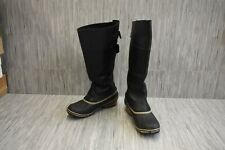 Sorel Slimpack Riding Tall II Leather Boots, Women's Size 8.5, Black