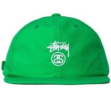 Stussy STOCK LOCK HONEYCOMB Green White Embroidered Reflective Cap Men's Hat