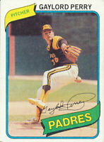 Gaylord Perry 1980 Topps #280 San Diego Padres baseball card