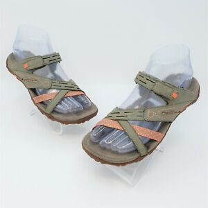 Merrell Womens Terran Weave II Putty Suede Strappy Outdoor Sandals Size 6 EUR 37