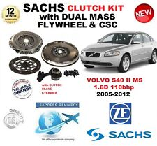 FOR VOLVO S40 MS 1.6 D 110bhp SACHS CLUTCH KIT 2005-2012 with FLYWHEEL BOLTS CSC