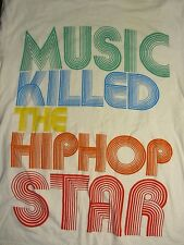 S white MUSIC KILLED THE HIP HOP STAR t-shirt by HERITAGE1981